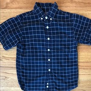 Dark navy blue checkered shirt